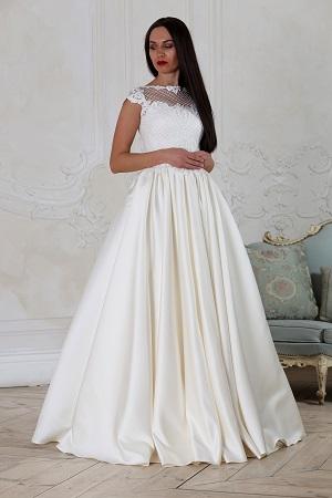 65cfad42a08 Основные виды фасонов закрытых свадебных платьев